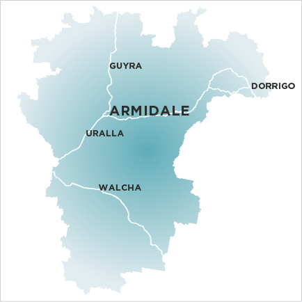 Armidale Express map