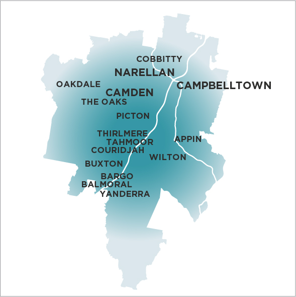 Campbelltown Macarthur Wollondilly Camden-Narellan Advertiser-Map