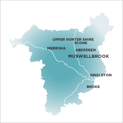 Muswellbrook Chronicle Map