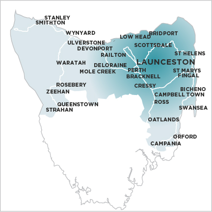 The Examiner (Launceston) Map